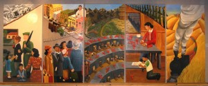 Katie Yamasaki Mural at Earlham College